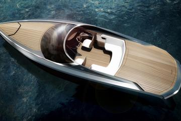 Aston Martin showcases powerboat design in Milan