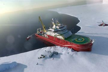 articles - ceremony to mark start of attenborough polar ship construction