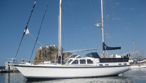 Boats of the month. Nauticat. Spain. Centre cockpit ketch with pilothouse ...