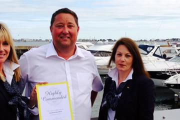 Sandbanks boat show receives tourism award