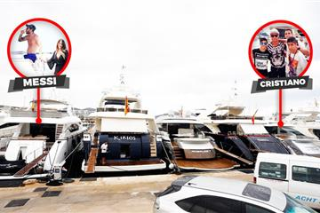 articles - messi and ronaldo accidentally park their holiday yachts 20 metres apart