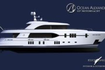 articles - ocean alexander and christensen yachts join forces to produce a new 115 motoryacht