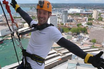 articles - brave theyachtmarketcom duo complete 100-metre charity abseil